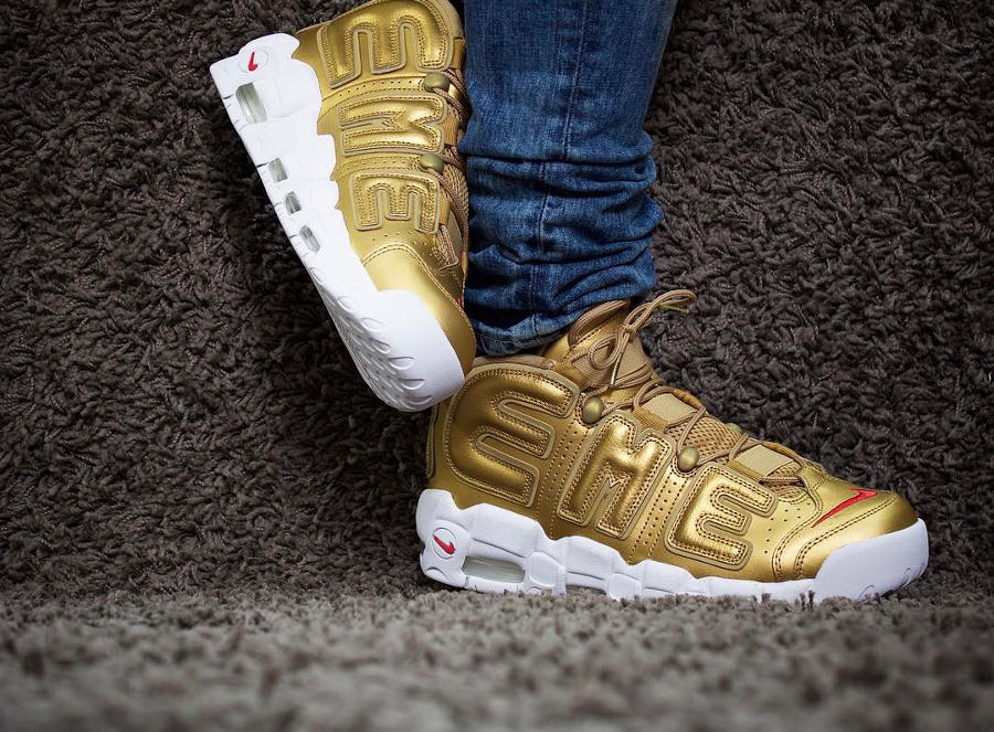 Supreme x Nike Air More Uptempo Suptempo Gold - @thereal_twins