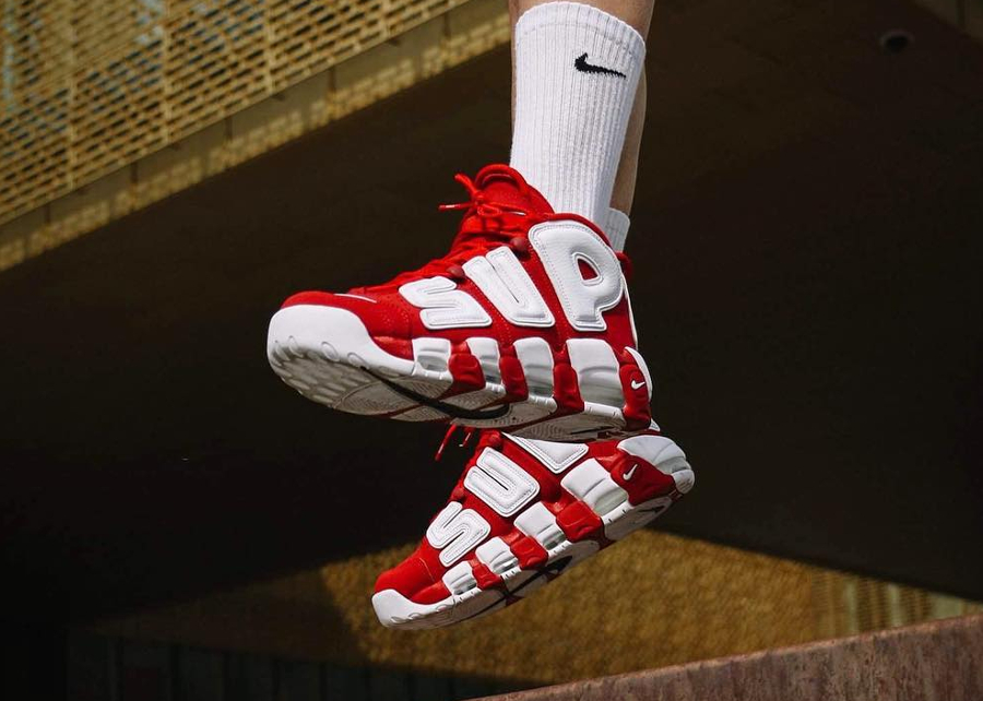 Supreme x Nike Air More Uptempo Suptempo Red White - @ng_kev