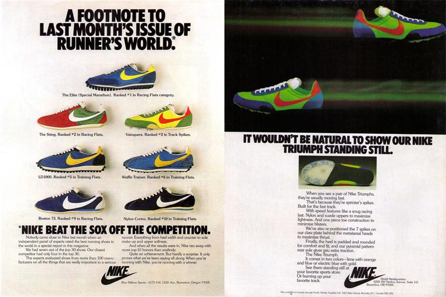 publicité Nike Cortez 1976 1977