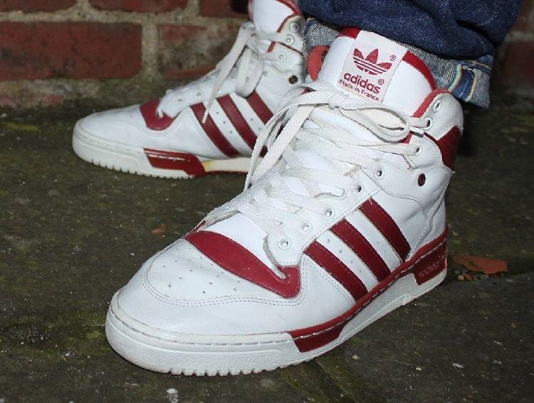 Adidas Rivalry Hi OG White Maroon (made in France) - @erniepunk