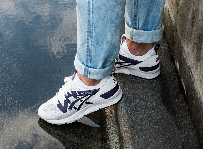 Basket Asics Gel Lyte V NS OG White Purple (2)