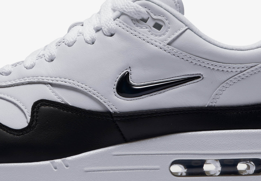 Basket Nike Air Max 1 Premium Jewel Black White (3)