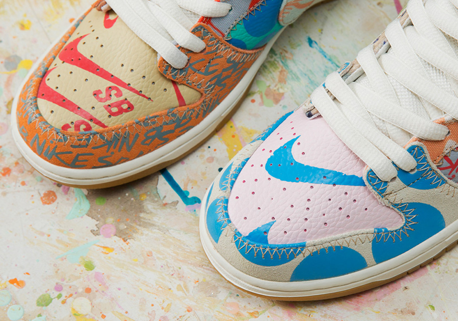 Basket Thomas Campbell x Nike Dunk High SB (2)