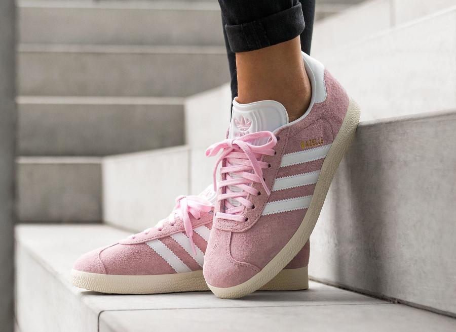 Chaussure Adidas Gazelle femme Rose Bonbon