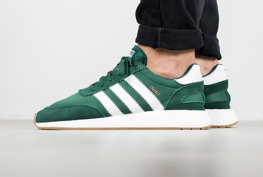 Chaussure Adidas Iniki Runner Boost Verte Collegiate Green (1)