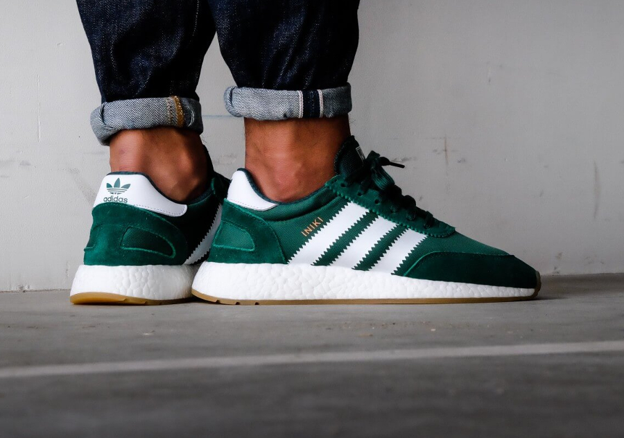 Chaussure Adidas Iniki Runner Boost Verte Collegiate Green (2)