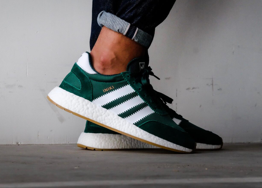 Chaussure Adidas Iniki Runner Boost Verte Collegiate Green (3)