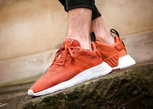 Chaussure Adidas NMD R2 Future Harvest (Orange Hermès) (1)