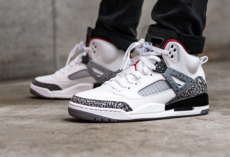 Chaussure Air Jordan Spizike OG White Cement 2017