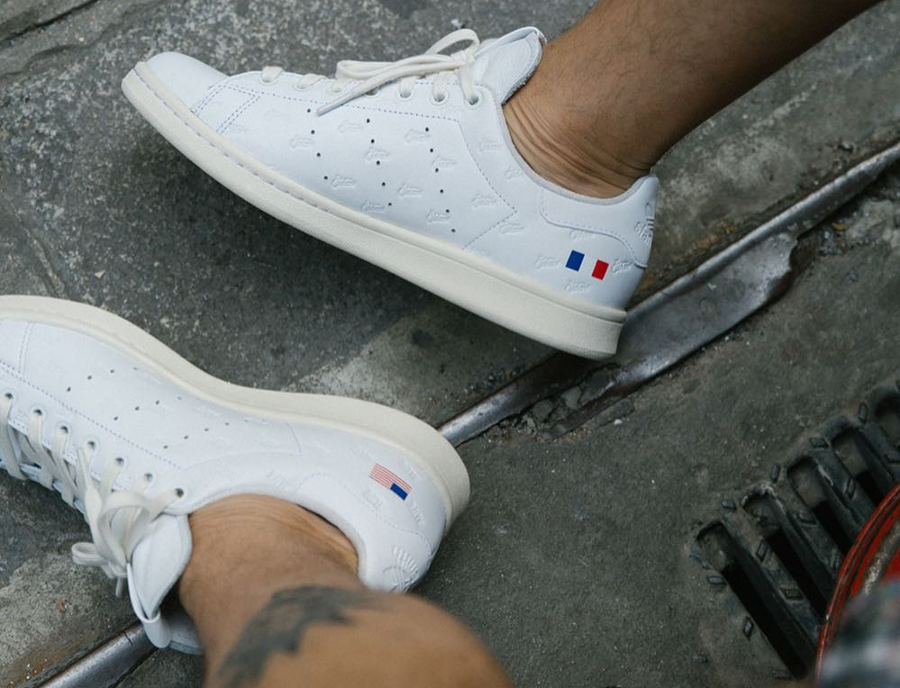 sneakers for cheap elegant shoes cozy fresh Alife Starcow Adidas Stan Smith 'USA France Flag' : où l ...