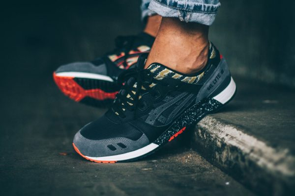 Chaussure Asics Gel Lyte 3 Black Tiger Camo (2)