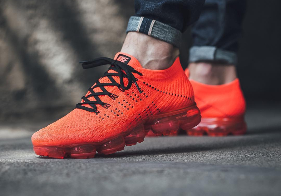 Chaussure Clot x Nike Air Vapormax Flyknit Rouge Bright Crimson (1)