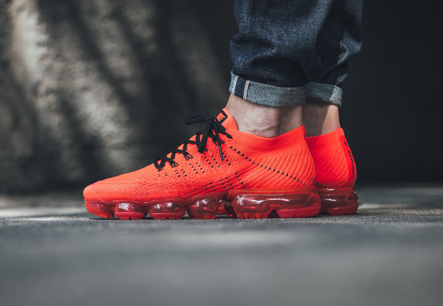Chaussure Clot x Nike Air Vapormax Flyknit Rouge Bright Crimson (2)