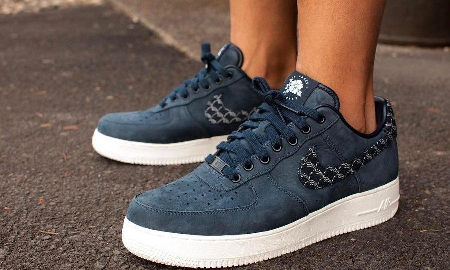 Chaussure Nike Air Force 1 ID Premium Indigo Nowaki