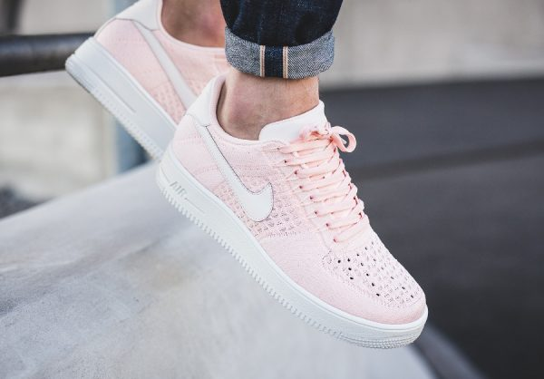 Chaussure Nike Air Force 1 Low Flyknit Rose Sunset Tint