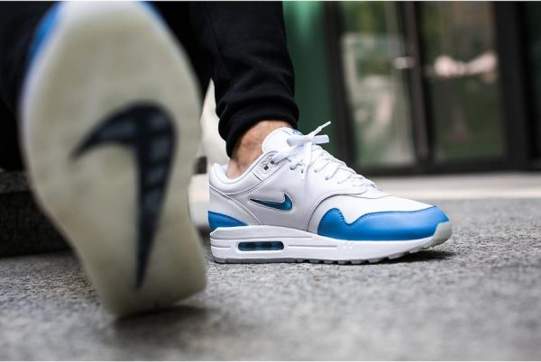 Chaussure Nike Air Max 1 Premium Jewel SC University Blue (7)