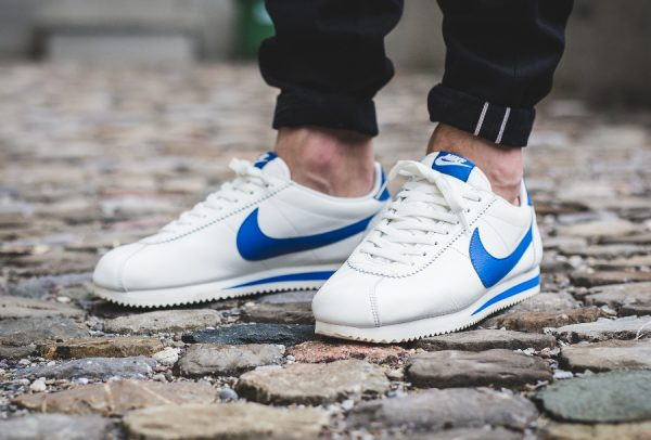 wholesale dealer c94ce d79e1 ... france chaussure nike cortez leather se sail blue jay homme 40796 88df6