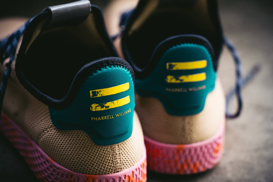 Chaussure Pharrell Williams x Adidas Tennis Hu Marble Nomad Yellow (3)