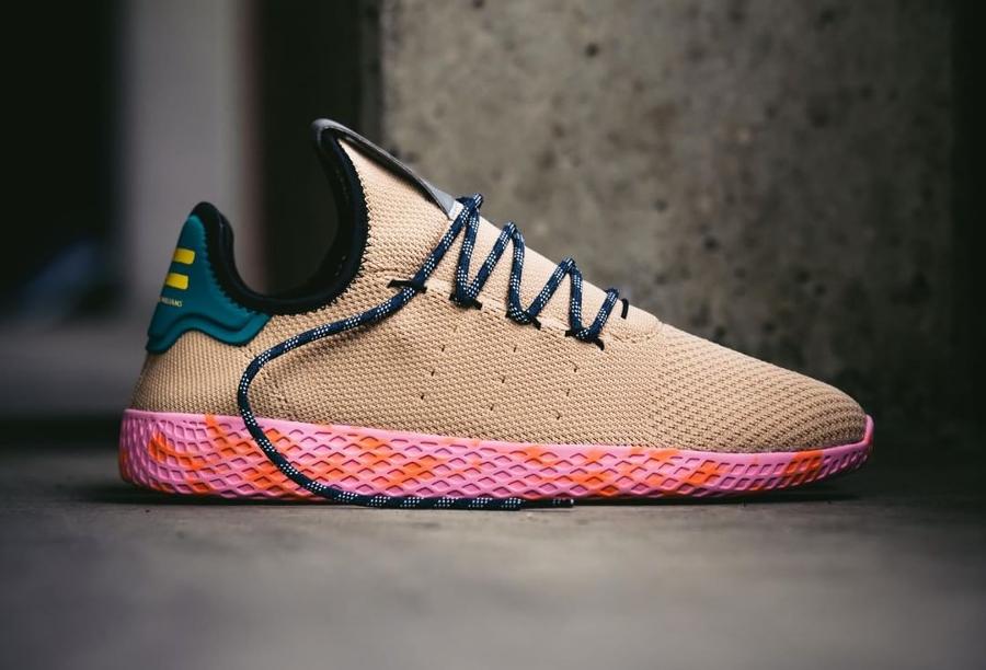 Chaussure Pharrell Williams x Adidas Tennis Hu Marble Nomad Yellow (4)