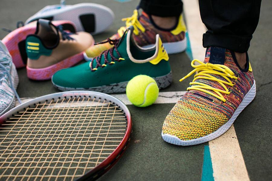 Chaussure Pharrell Williams x Adidas Tennis Hu Multicolor