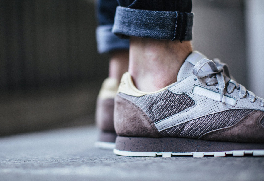 Chaussure Reebok Classic CL Leather SM Sand Stone (1)