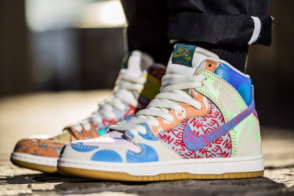 Chaussure Thomas Campbell Nike Dunk High SB What The (3)