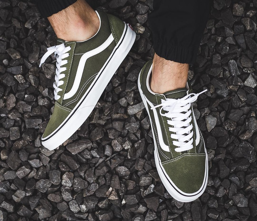 Chaussure Vans Old Skool Verte Winter Moss (2)