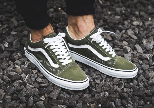 Chaussure Vans Old Skool Verte Winter Moss (3)