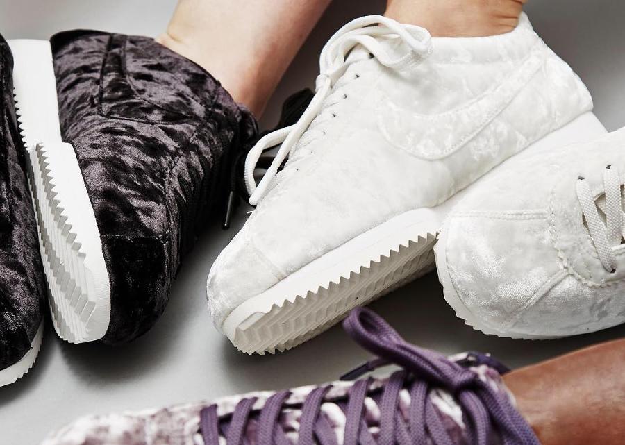 3 nouvelles Nike Wmns Cortez Classic LX en velours