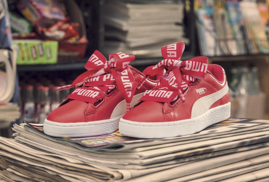 Puma Basket Heart Toreador Red