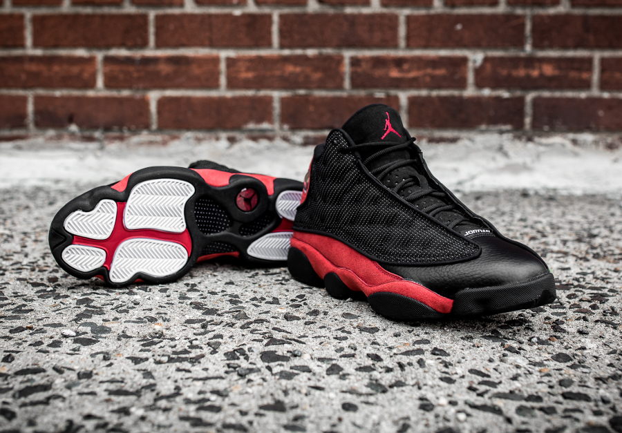 Basket Jordan13 Black True Red 2017 (2)