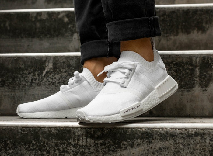 Chaussure Adidas NMD R1 PK Japan Boost blanche triple white (2)
