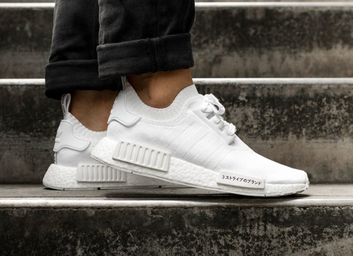 Chaussure Adidas NMD R1 PK Japan Boost blanche triple white (3)