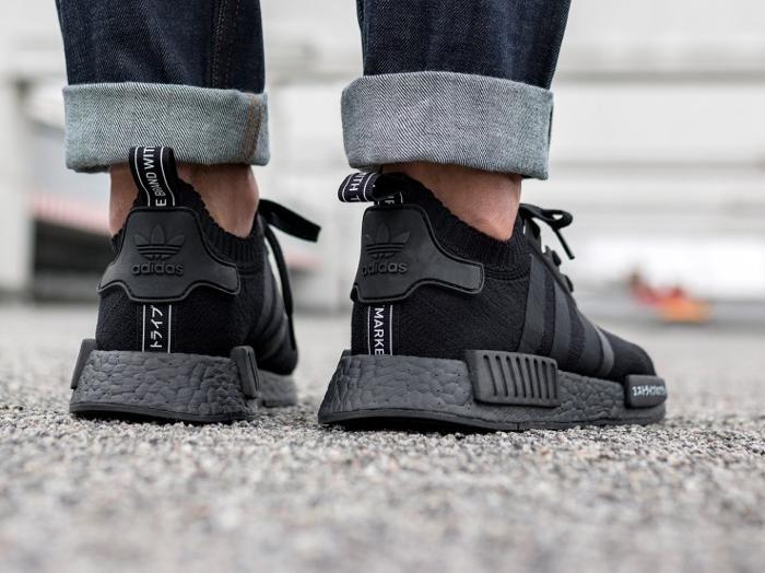 Chaussure Adidas NMD R1 PK Japan Boost noire triple black (1)