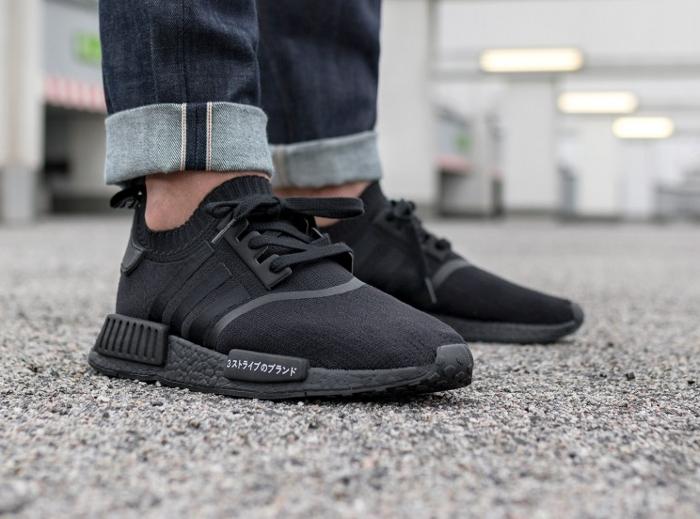 Chaussure Adidas NMD R1 PK Japan Boost noire triple black (3)