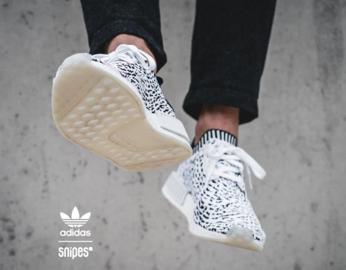 Chaussure Adidas NMD R1 PK blanche Sashiko Zebra (3)