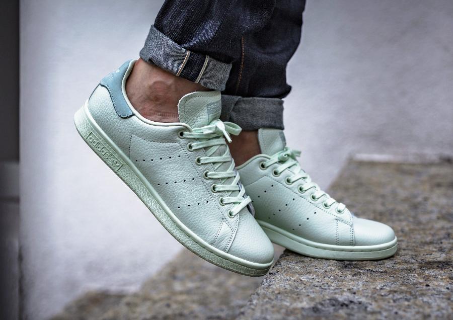 Chaussure Adidas Originals Stan Smith Pastel Linen Green (2)