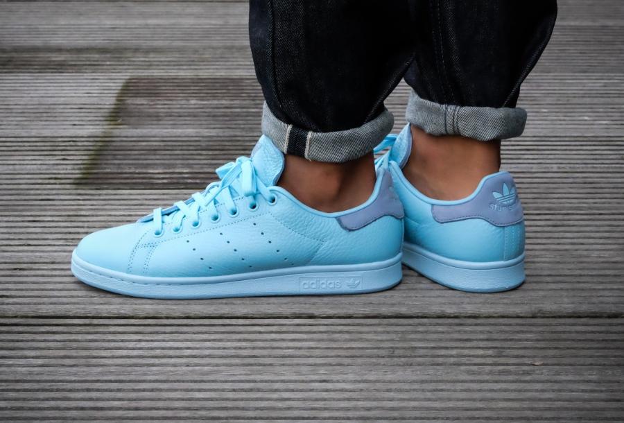 Chaussure Adidas Originals Stan Smith Pastels Icey Blue (2)