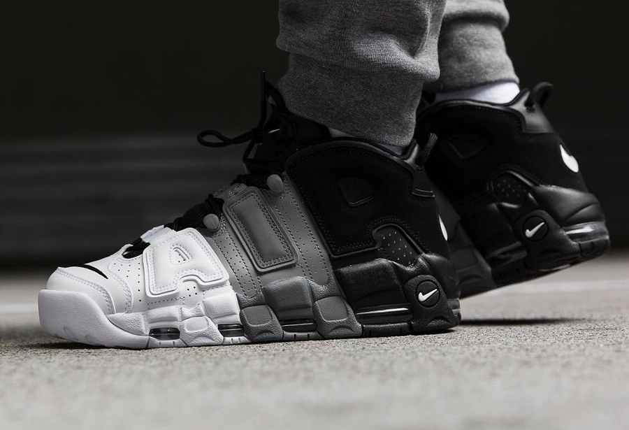 Chaussure Air More Uptempo 96 Tricolor Black Grey White (2)
