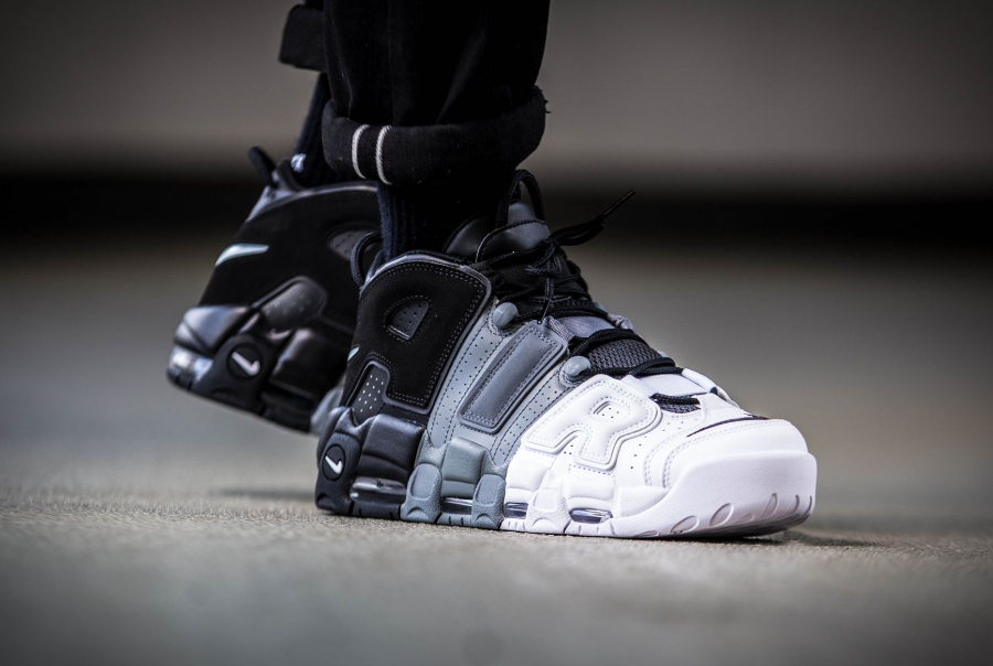Chaussure Air More Uptempo 96 Tricolor Black Grey White (3)