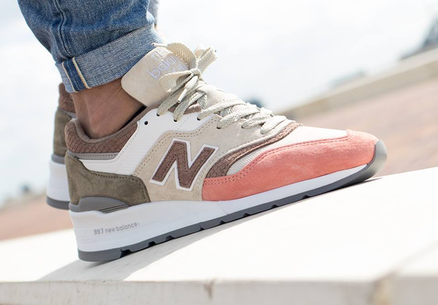 New Balance M997 Bone Sunset 'Coral Snake' (made in USA)