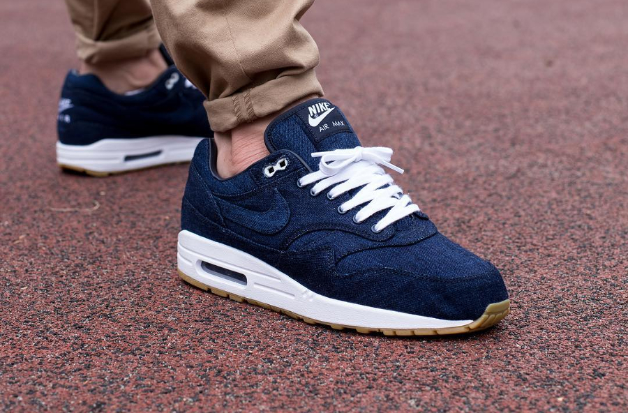 Chaussure Nike Air Max 1 ID Denim Indigo Nowaki (4)
