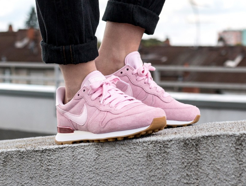 nike internationalist femme rose gold