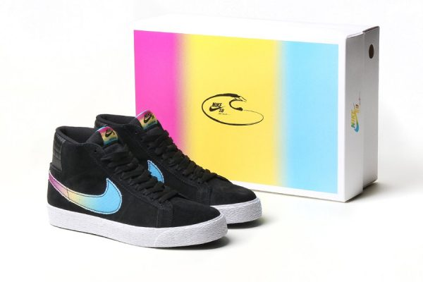 Chaussure Nike SB Blazer Mid QS Lance Mountain Black Multicolor