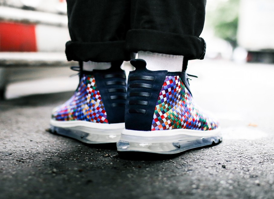 Chaussure NikeLab Air Max Woven Boot SE Rainbow Multicolor (2)