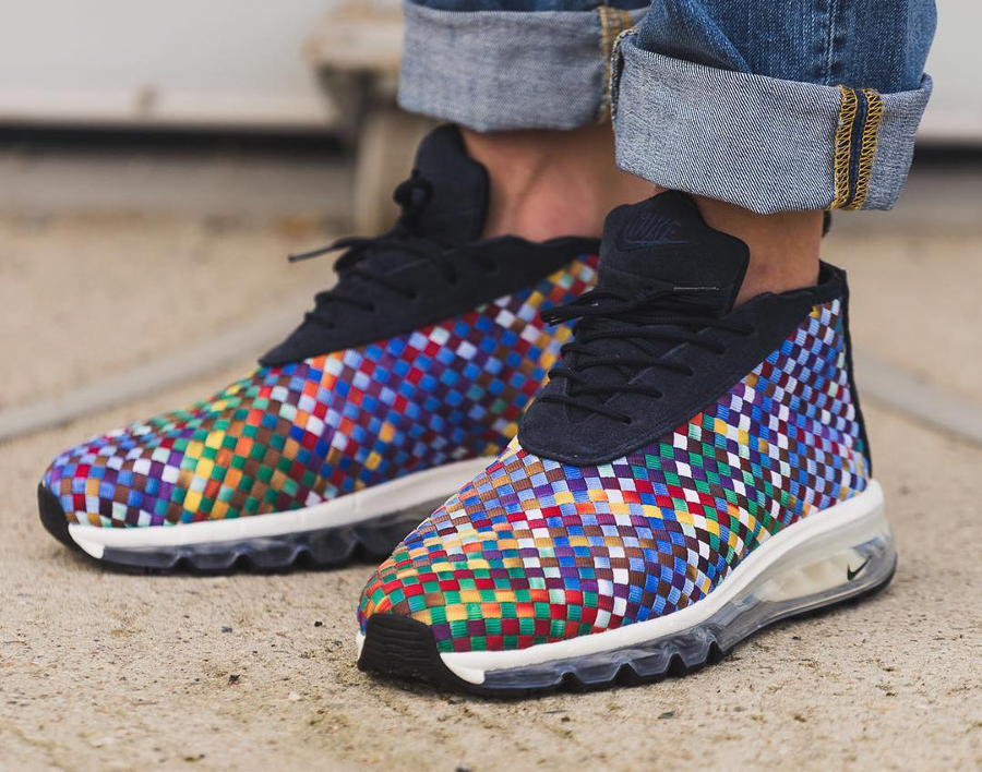 Chaussure NikeLab Air Max Woven Boot SE Rainbow Multicolor