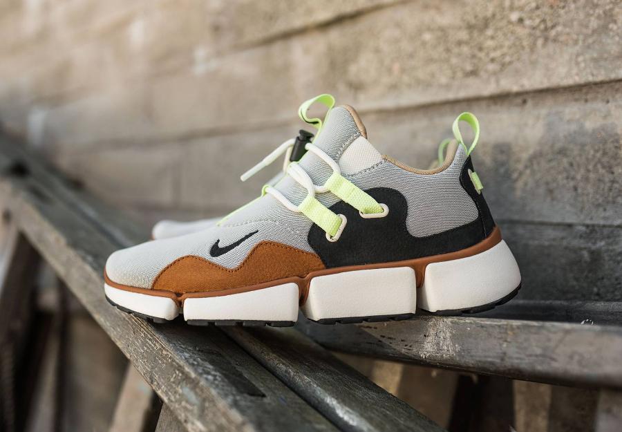 Chaussure NikeLab Pocketknife DM Barely Volt Mushroom (1)