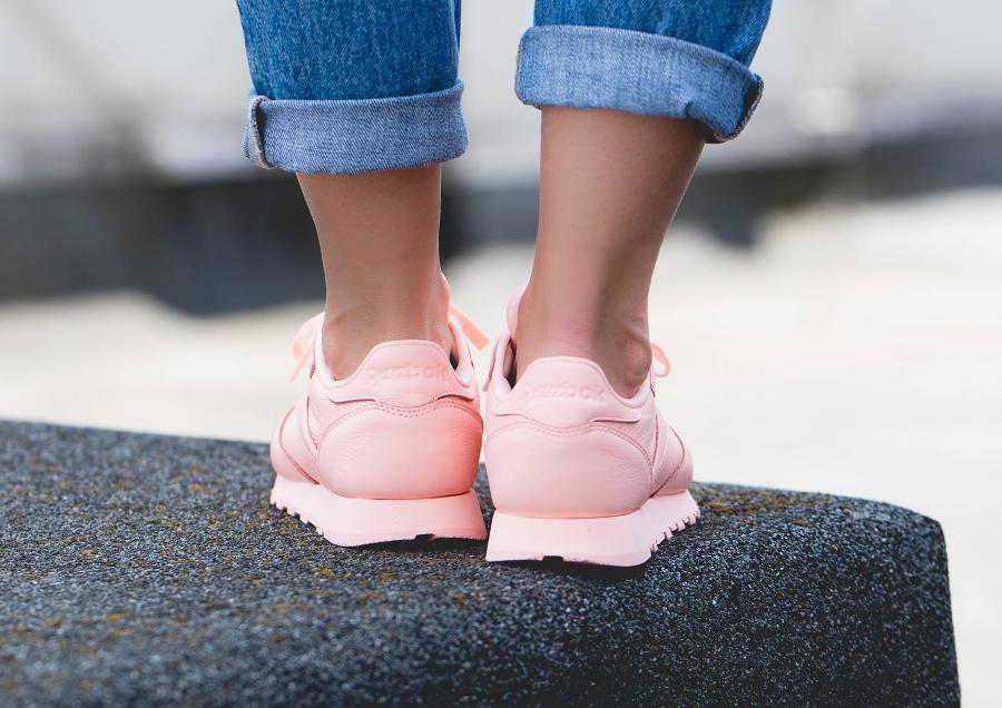 Chaussure Reebok Classic Leather L femme Rose Peach Twist (1)