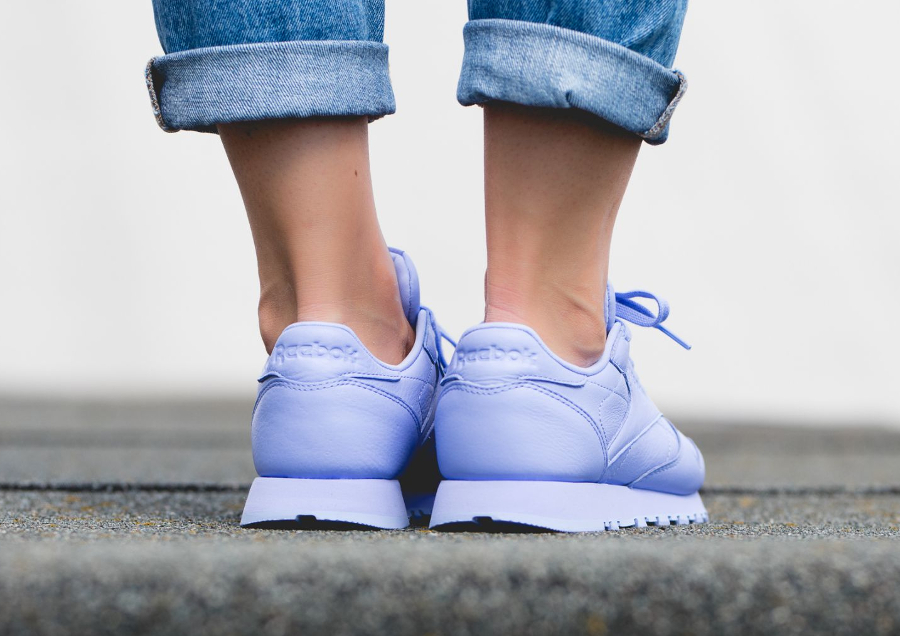 Chaussure Reebok Classic Leather L femme Violet Lilac Glow (1)