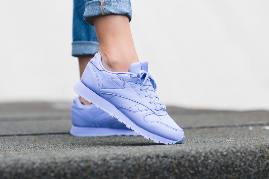 Chaussure Reebok Classic Leather L femme Violet Lilac Glow (2)